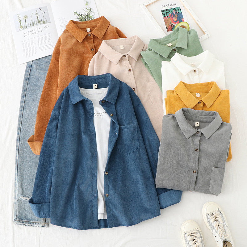 """VINTAGE CORDUROY LONG SLEEVE"" SHIRT N103103"