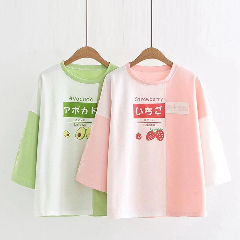 """STRAWBERRY AVOCADO"" T-SHIRT N081109"