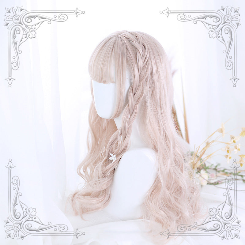 """LOLITA PINK LONG CURLY"" WIG N090301"