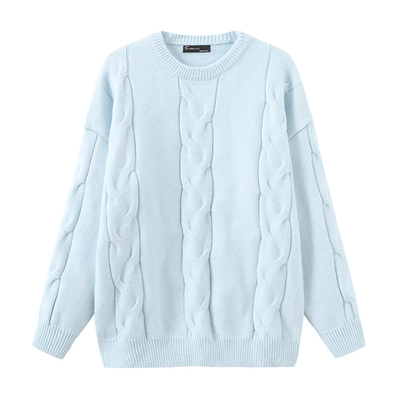 """LIGHT COLORED TWIST"" SWEATER N091707"