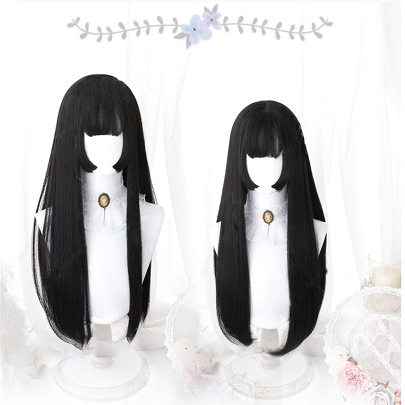 """LOLITA BLACK LONG STRAIGHT"" WIG N090304"