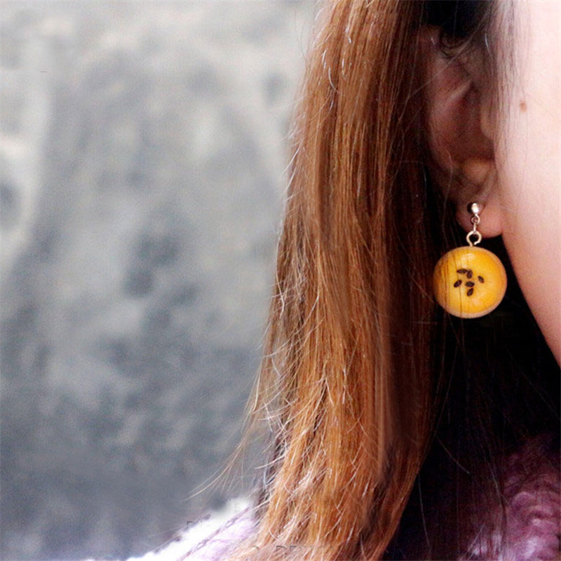 """EGG YOLK CRISP"" EARRINGS/EAR CLIPS N031007"