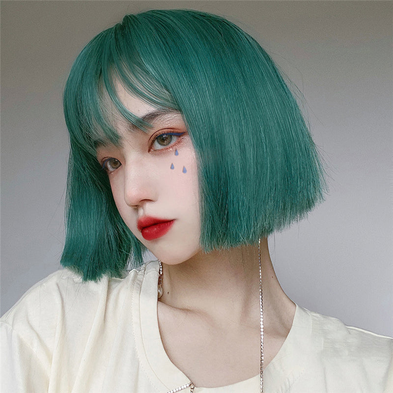"""DARK GREEN SHORT"" WIG N122902"
