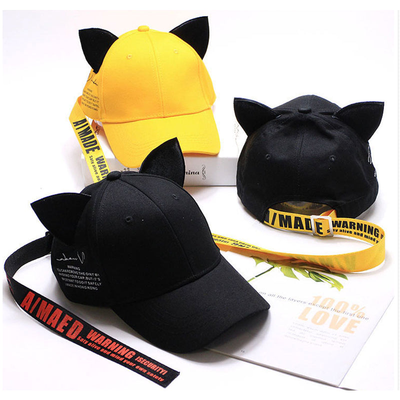 """LONG STRAP CAT EAR"" CAP N081410"