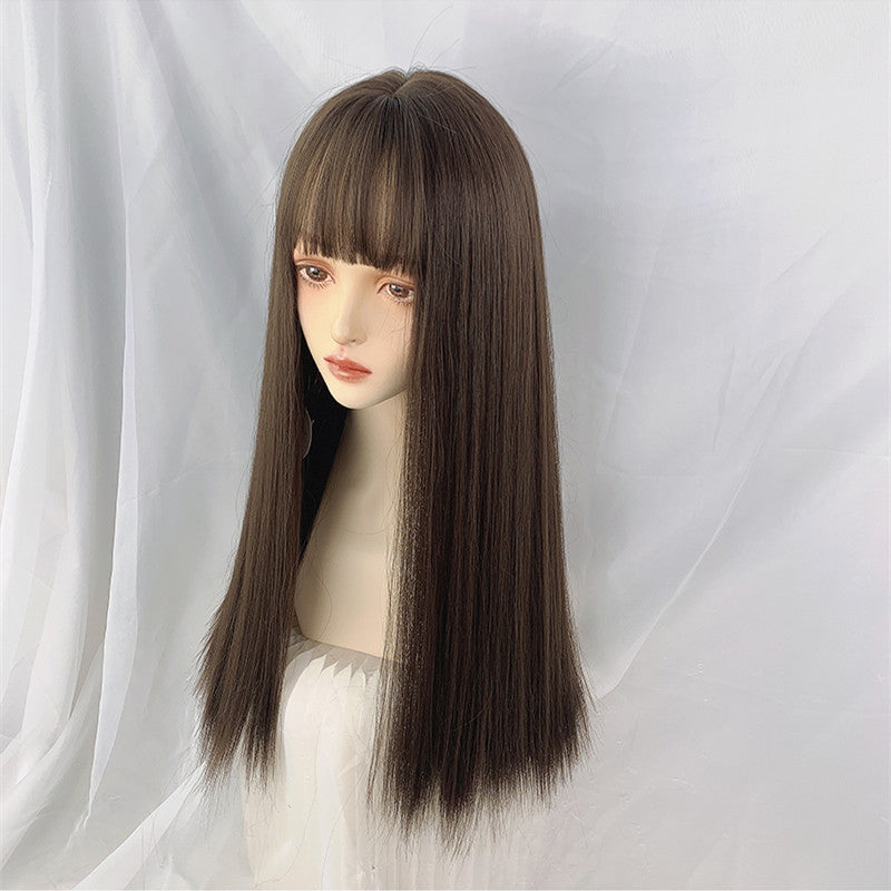 """COLD BROWN LONG STRAIGHT"" WIG N101409"