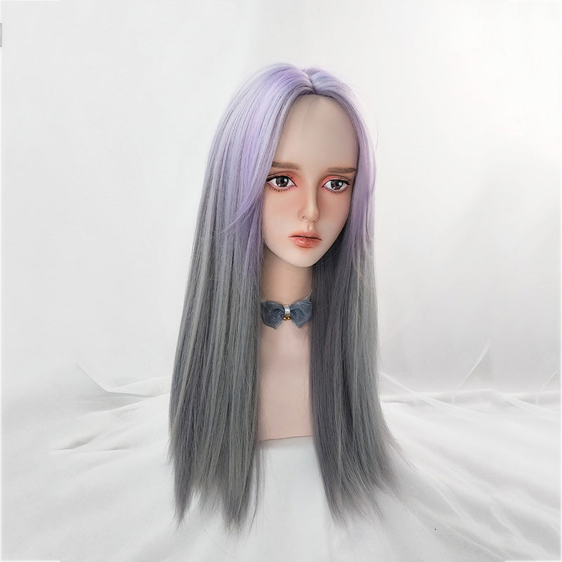 """PURPLE GRADIENT LONG STRAIGHT"" WIG N111309"