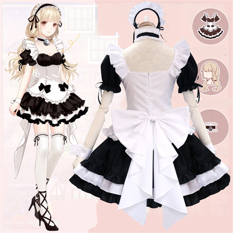 """LOLITA BLACK WHITE BOW"" MAID OUTFIT N030401"