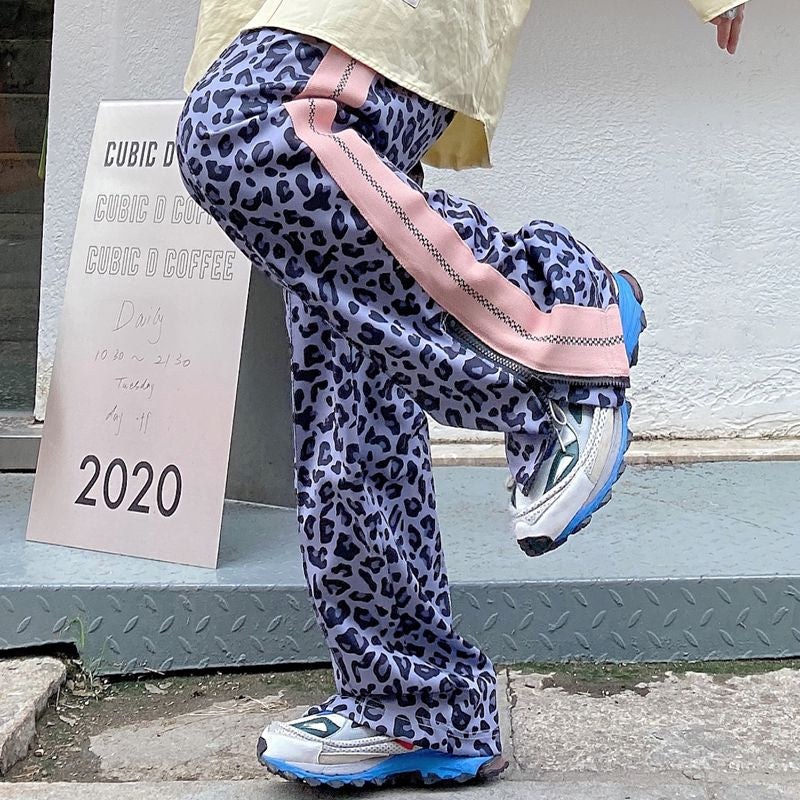 """LEOPARD PINK STRIPED"" PANTS N012007"