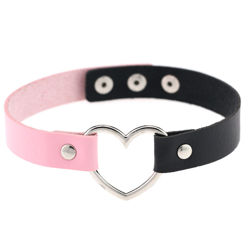 """DOUBLE COLOR STITCHING LOVE"" CHOKERS N042401"