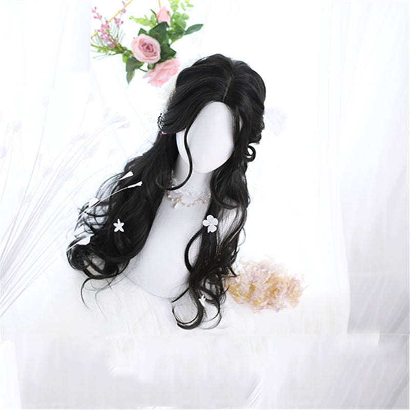 """LOLITA BLACK MID LENGTH CURLY"" WIG N102704"