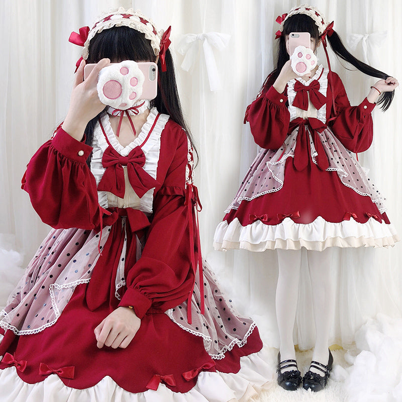 """LOLITA RED BOW PRINCESS"" DRESS N010804"