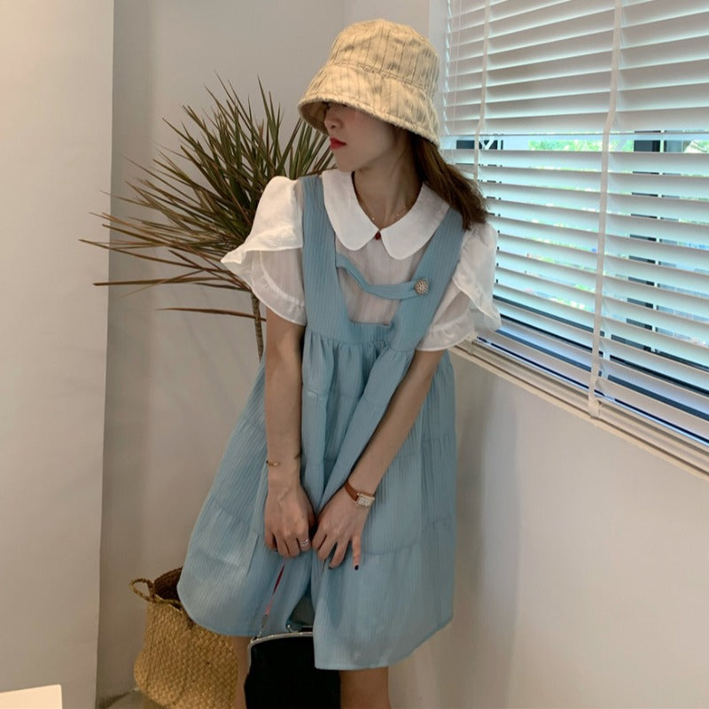 "[@im_hae_] ""DOLL COLLAR"" SHIRT/STRAP DRESS N081505"