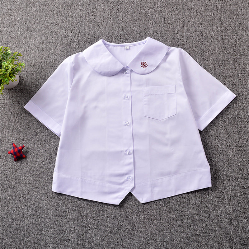 """COLLAR PLUM EMBROIDERY"" SHIRT N081401"