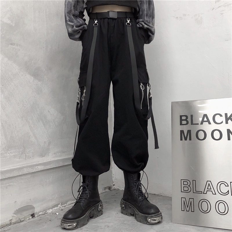 """STREAMER BLACK OVERALLS"" TROUSERS N012006"
