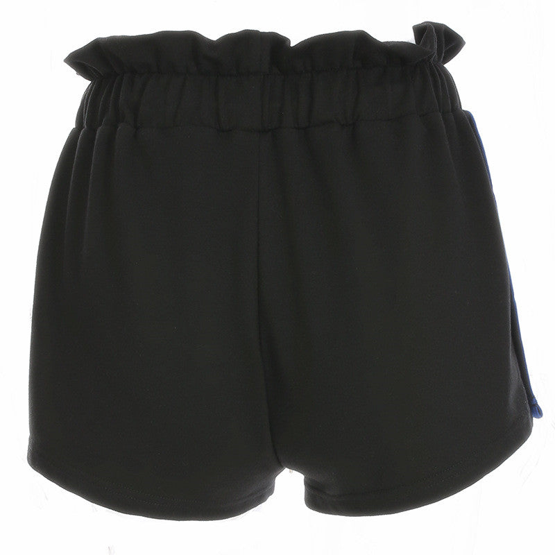 """SNAP BUTTON & HEMMING"" SHORTS W041902"