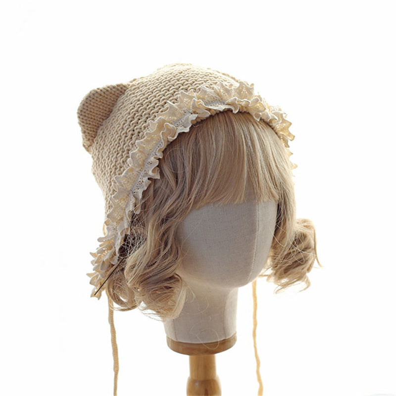 """CAT EAR WOOL"" HAT N092407"