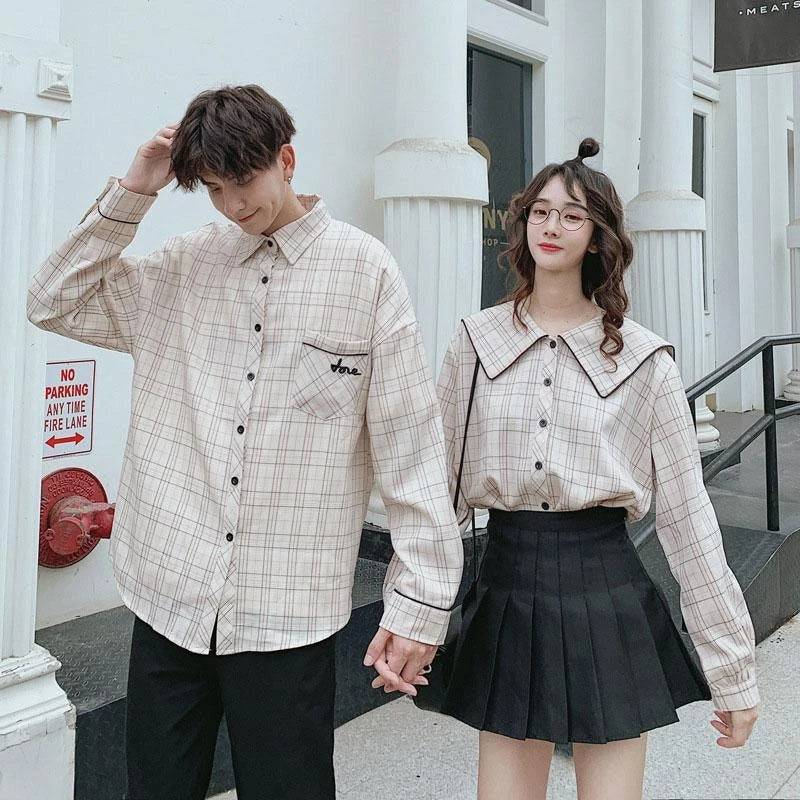 """PLAID COUPLE"" SHIRT N081214"