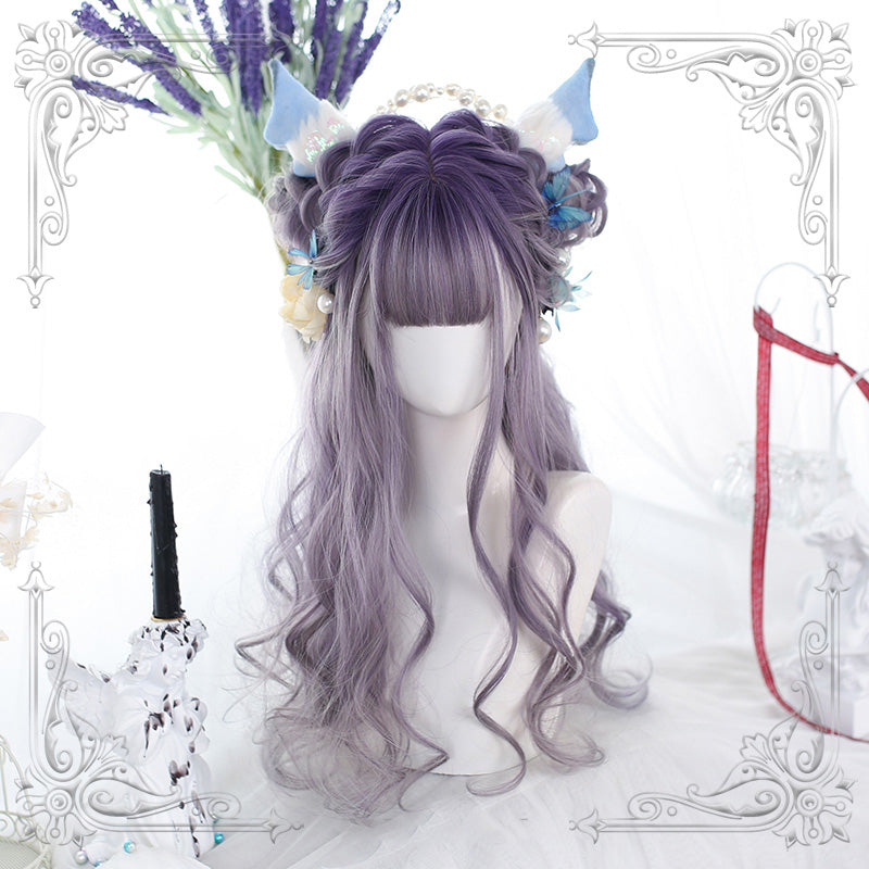 """LOLITA LAVENDER GRADIENT LONG CURLY"" WIG N111305"