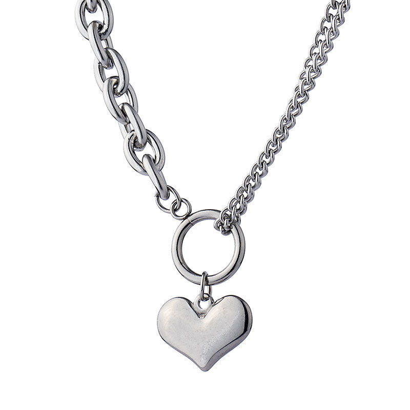 """TITANIUM STEEL LOVE PENDANT"" NECKLACE D052506"