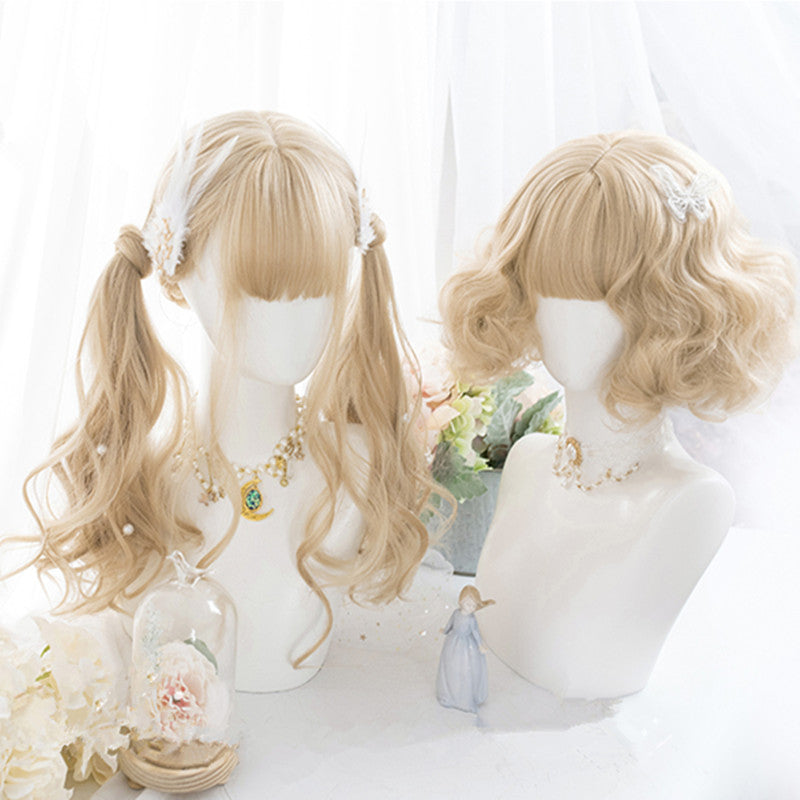 """GOLDEN CURLY"" WIG D051802"