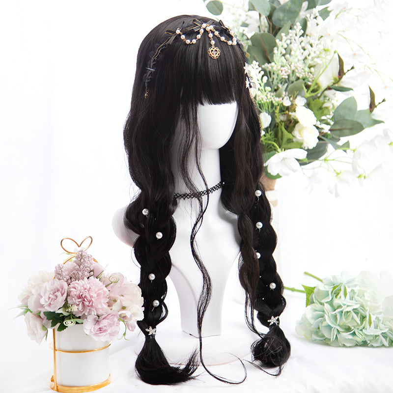 """BLACK LOLITA LONG CURLY"" WIG D051608"