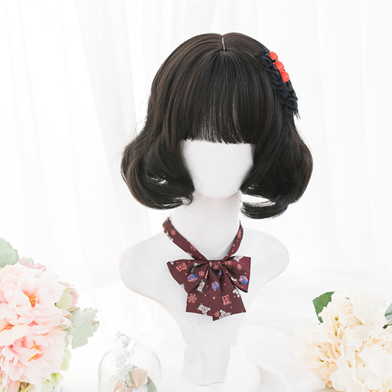 """BLACK LOLITA SHORT CURLY"" WIG D052206"