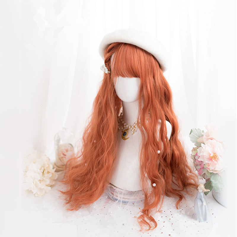 """ORANGE LOLITA LONG CURLY"" WIG D052101"