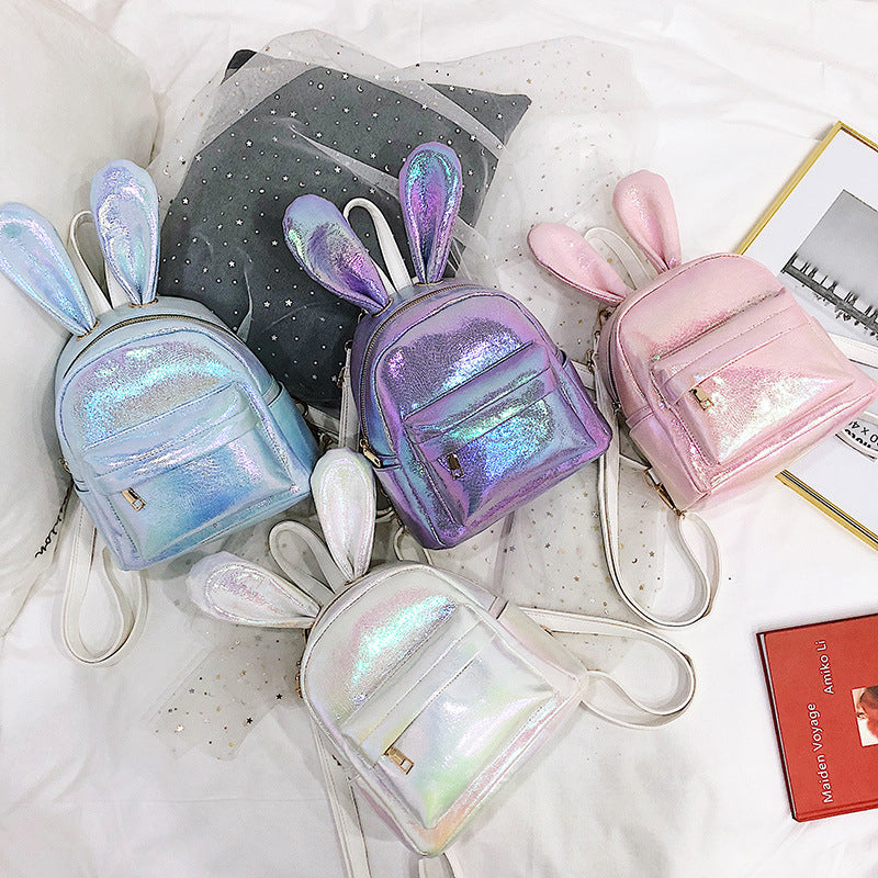 """CUTE BUNNY EARS SHINY MINI"" BACKPACK D061704"