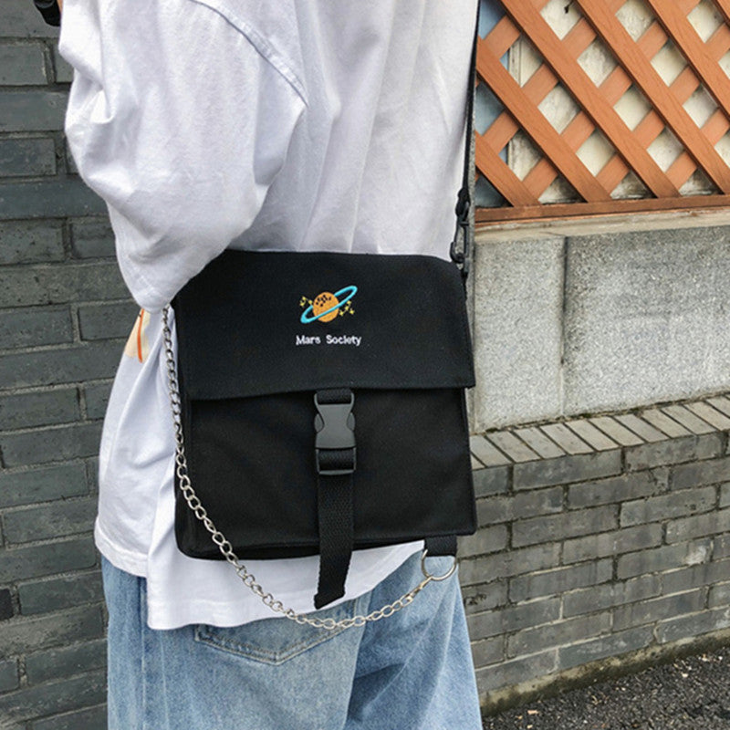 """MARS SOCIETY"" SHOULDER BAG D061702"