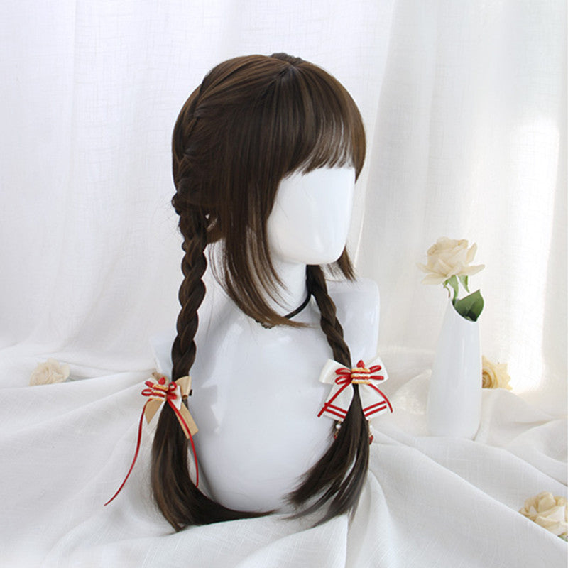 """DARK BROWN BANGS LONG STRAIGHT"" WIG D051216"