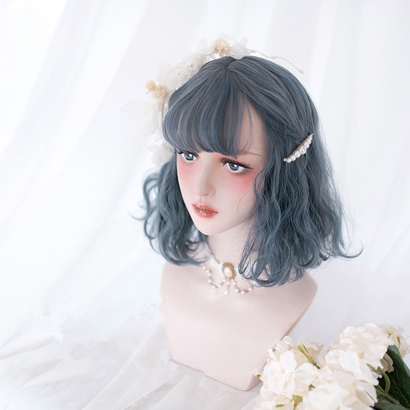 """4 COLOR LOLITA CURLY SHORT"" WIG D052007"