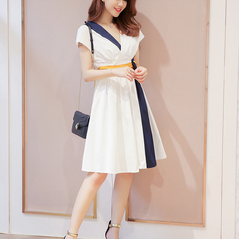 """FASHION V-NECK SLEEVELESS"" DRESS D052915"