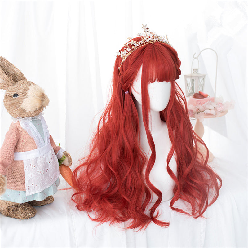 """CHERRY RED LOLITA LONG CURLY"" WIG D052008"