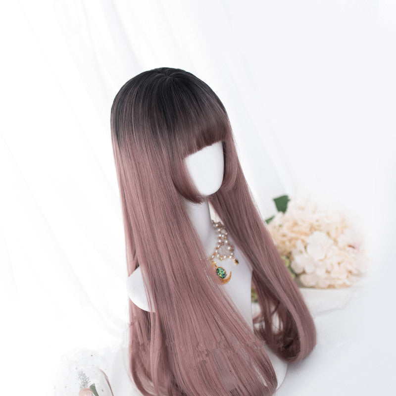 """ROSE GOLD GRADIENT LONG STRAIGHT"" WIG D052006"