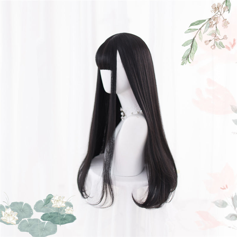 """BLACK LONG STRAIGHT"" WIG D052109"