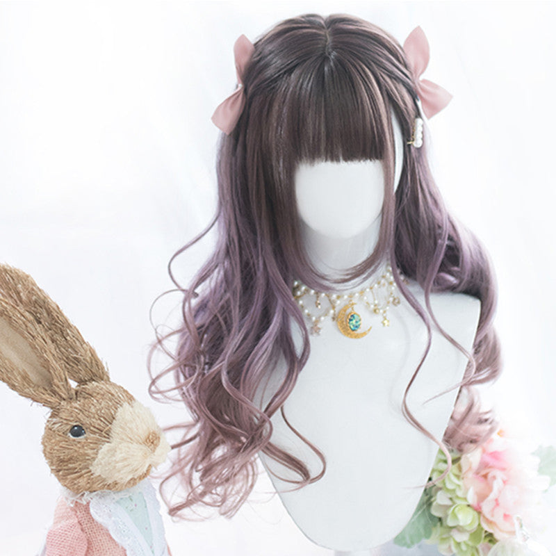 """PURPLE GRADIENT LONG CURLY"" WIG D052003"