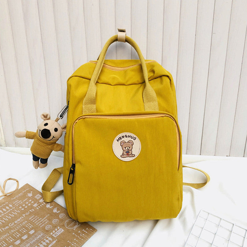 """SMALL FRESH PENDANT CANVAS"" BACKPACK D060605"