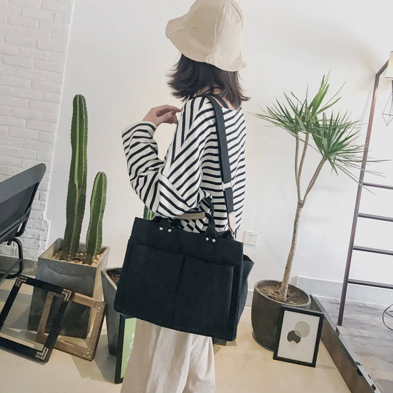 """KFASHION LARGE CAPACITY CANVAS"" CROSSBODY BAG D060612"