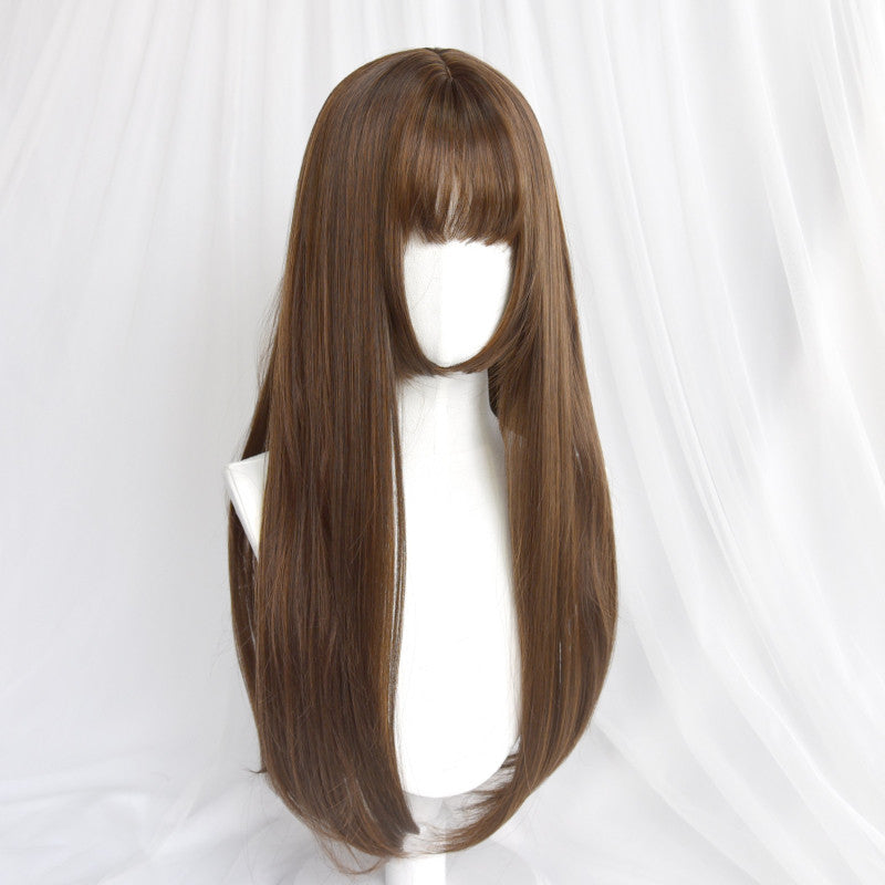 """BLACK/BROWN/LIGHT BROWN LONG STRAIGHT"" WIG D042016"