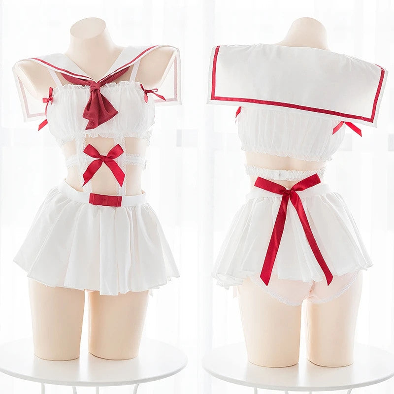 """CUTE BOW SAILOR DRESS"" SUIT Y042114"