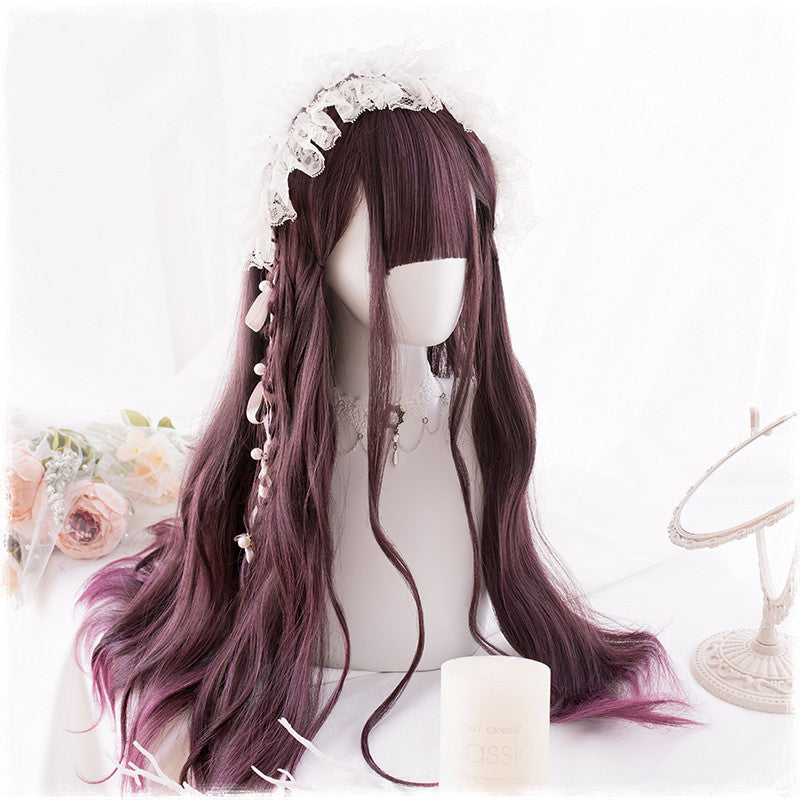 """PURPLE GRADIENT LOLITA CURLY LONG"" WIG D071412"