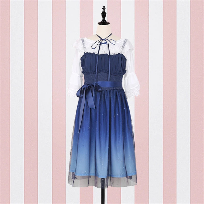 """BLUE STARRY"" DRESS Y042111"
