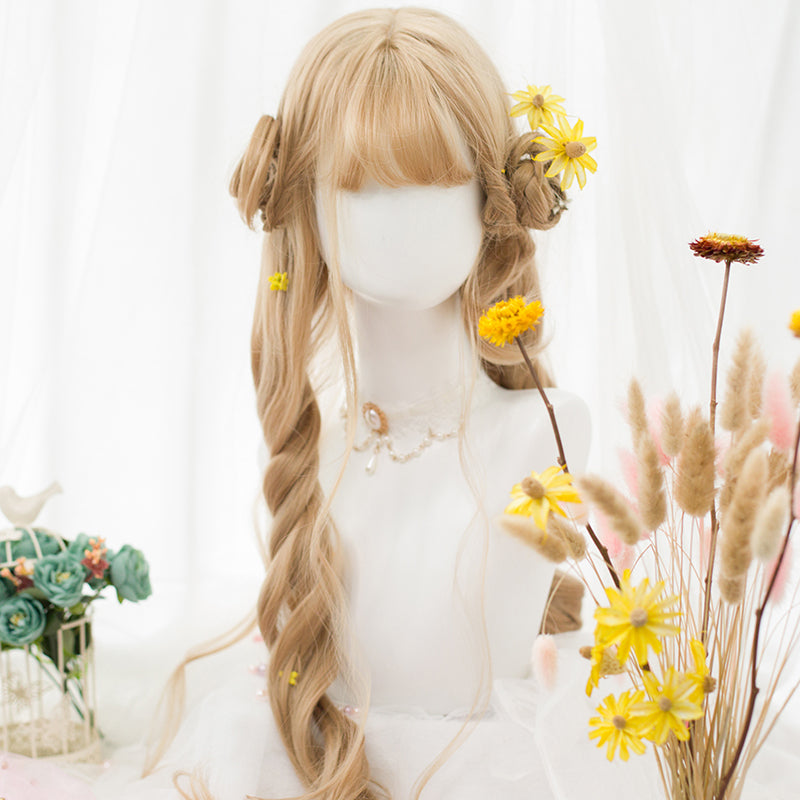 """GOLDEN BIG WAVY LONG CURLY"" WIG D051518"