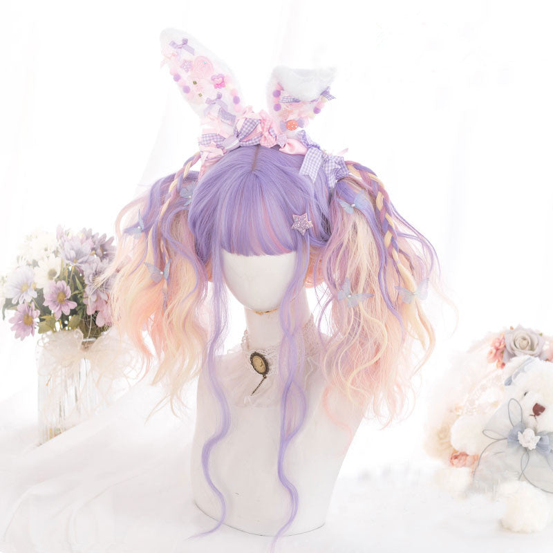"""PURPLE PINK GRADIENT LOLITA LONG"" WIG D071510"