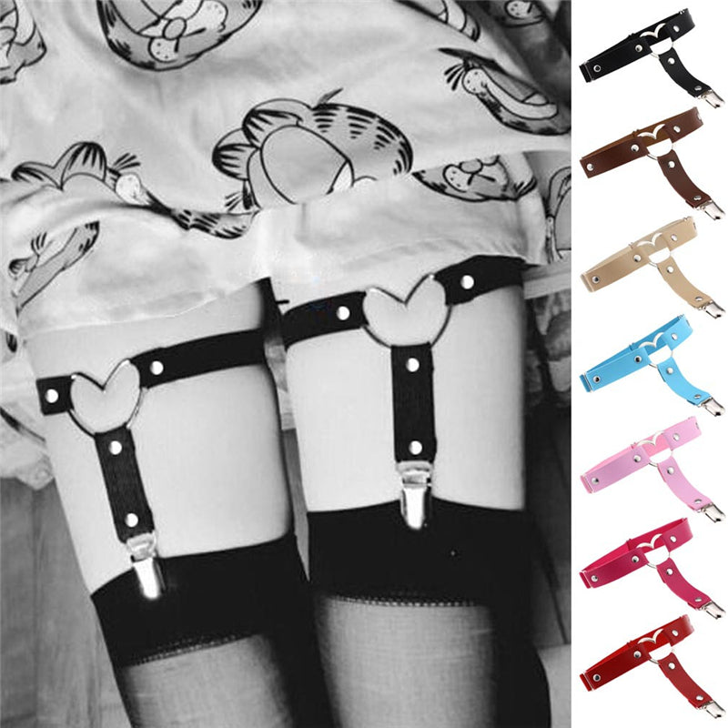 """LOVE HEART PUNK"" GARTER D070810"
