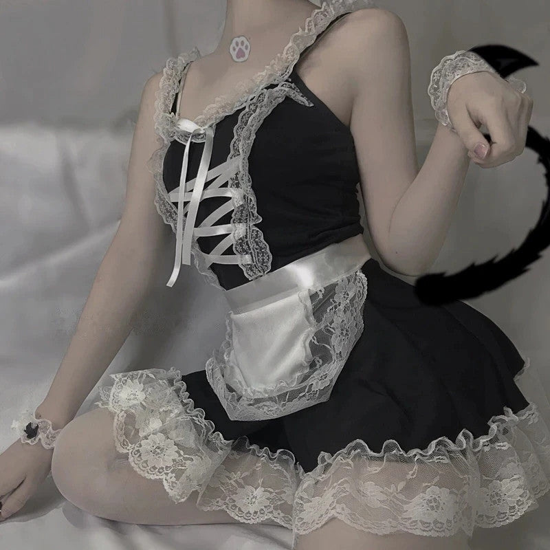 """SEXY LACE COS MAID"" UNDERWEAR SET D042019"