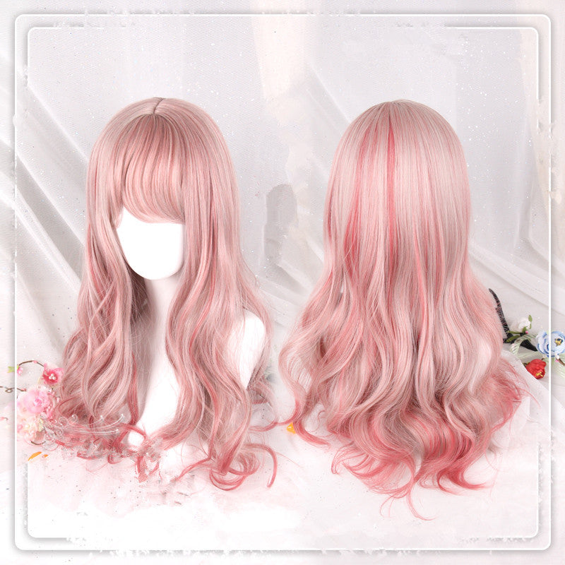 """PINK GRADIENT LOLITA LONG CURLY"" WIG D071410"