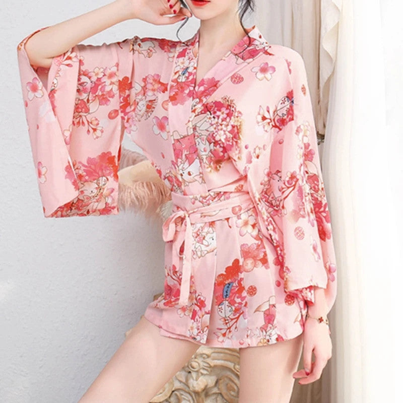 """JFASHION PRINTED BATHROBE"" DRESS Y042118"