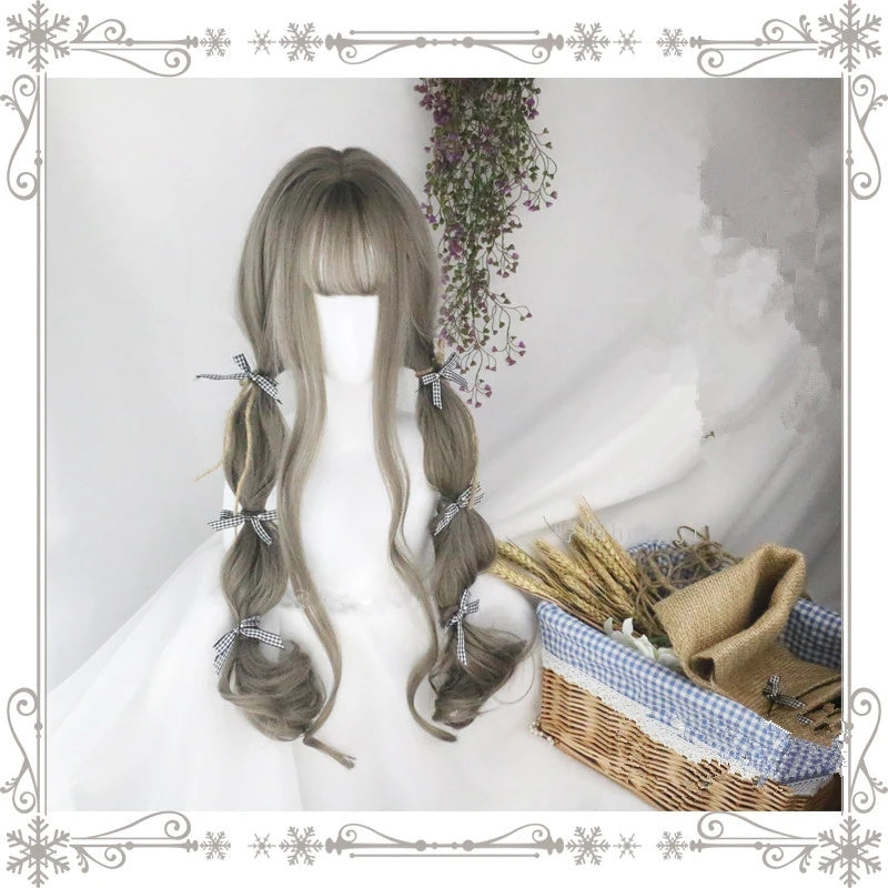 """Aoki gray loli curly long"" wig D041621"