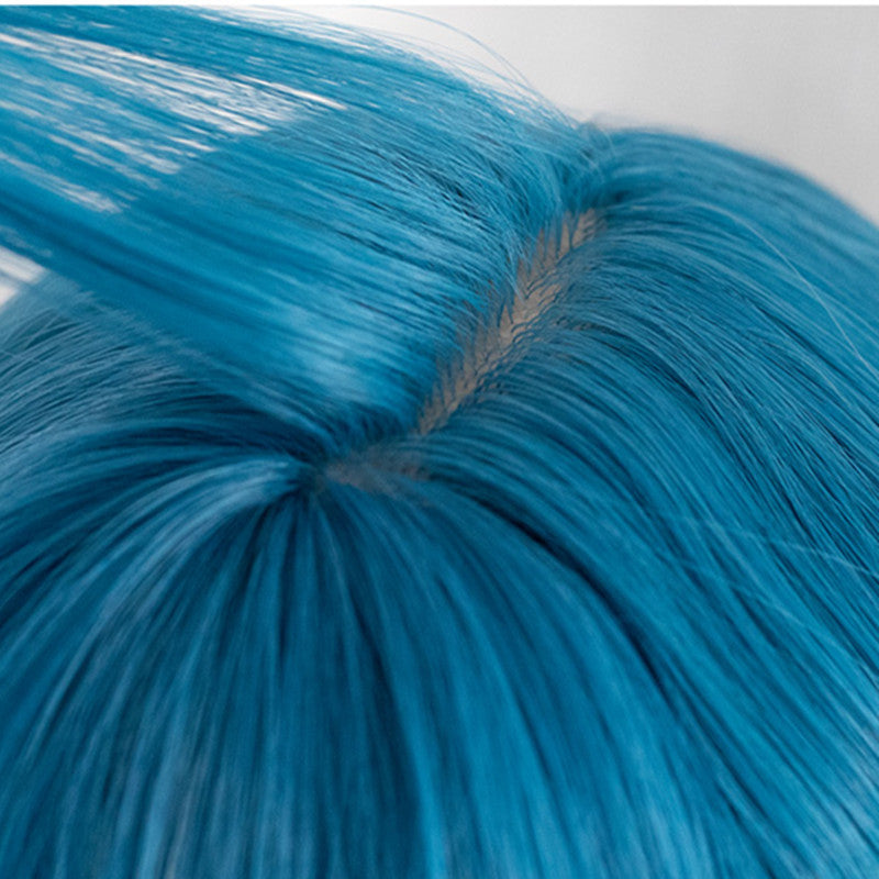 """BLUE GRADIENT GREEN CUTE LONG CURLY"" WIG D050501"